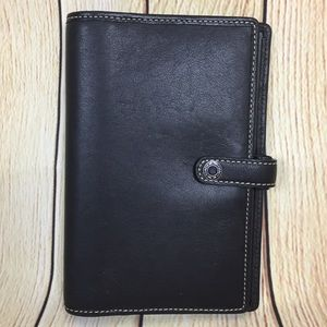 Coach Black Leather Checkbook Credit Card Holder